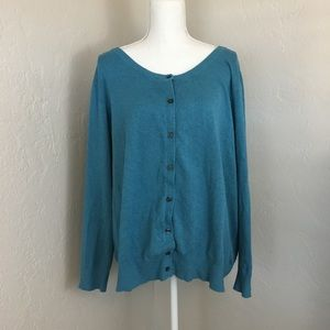 Lane Bryant 26 28 cardigan sweater button front